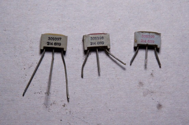 Old selenium diode pairs.